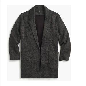 JCREW Sophie Glitter Open Cardigan Blazer Sweater